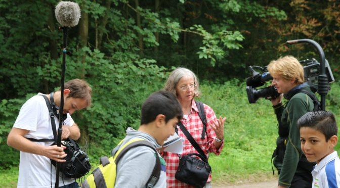 Mit Kindern und WDR im Wald
